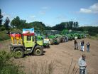 German tractors on their way to Brussels - 13th June