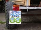 BDM - 'I am part of it' - tractor wheel of one of the protesters