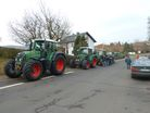Tractors leaving Germany